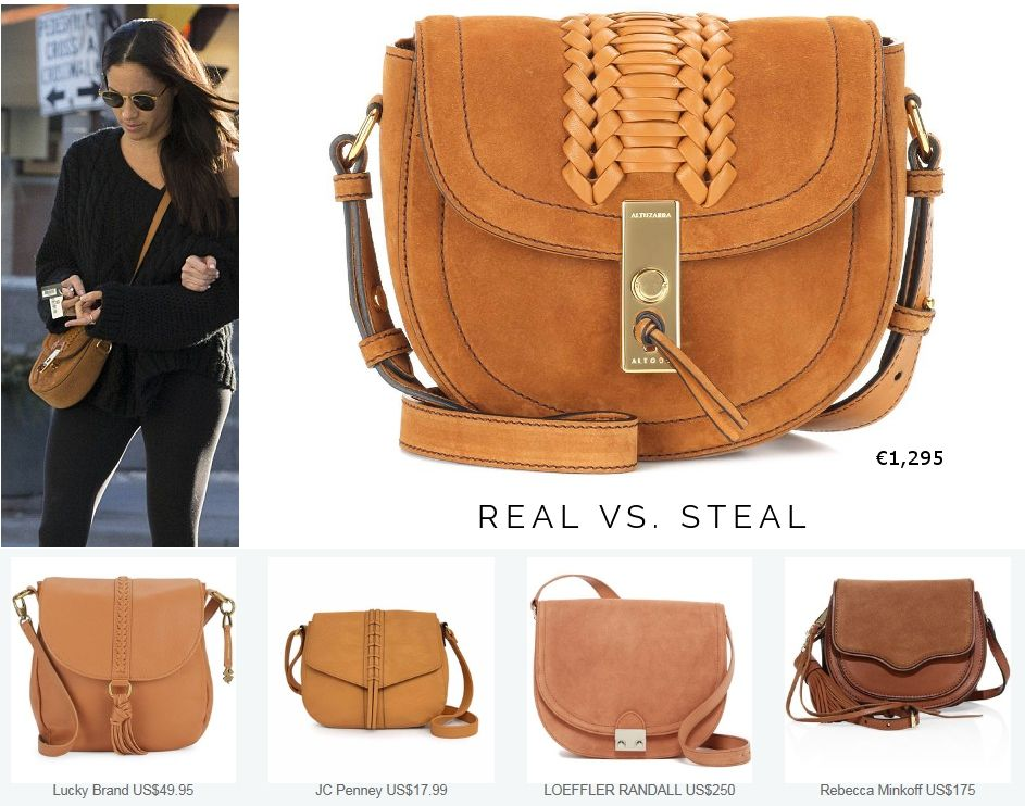 c5e9525259c3 Shop Real vs. Steal  Altuzarra  Ghianda  Saddle Mini Suede Shoulder Bag aso  Meghan Markle