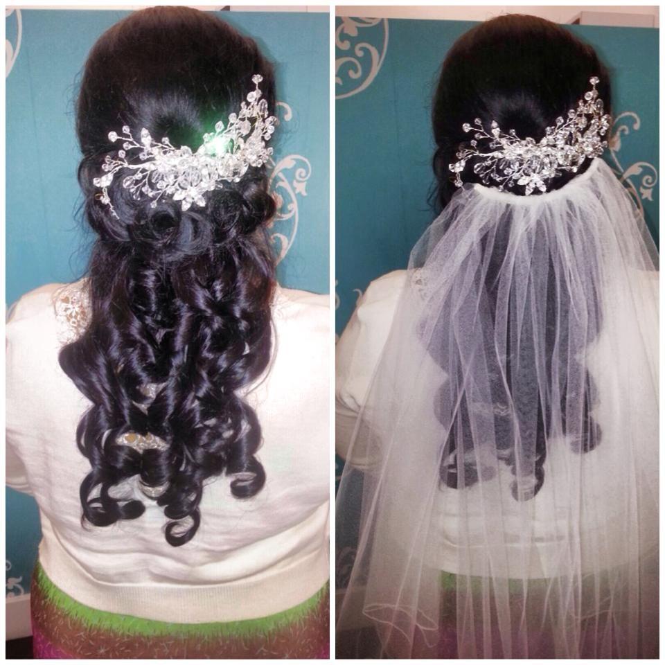 Gorgeous #wedding #hair done by Eddie!  #bride #justblowdrys #bridalhair