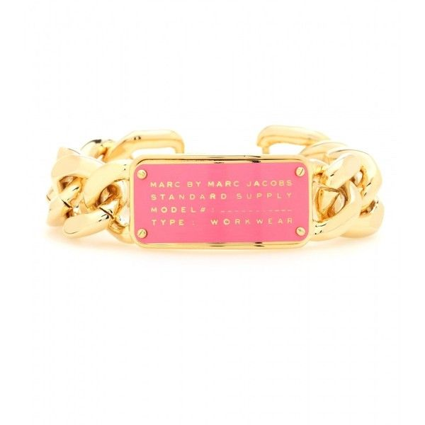 Marc by Marc Jacobs Standard Supply Bracelet (105 CAD) ❤ liked on Polyvore featuring jewelry, bracelets, gold, chains jewelry, marc by marc jacobs bangle, gold chain jewelry, gold bangles and yellow gold jewelry