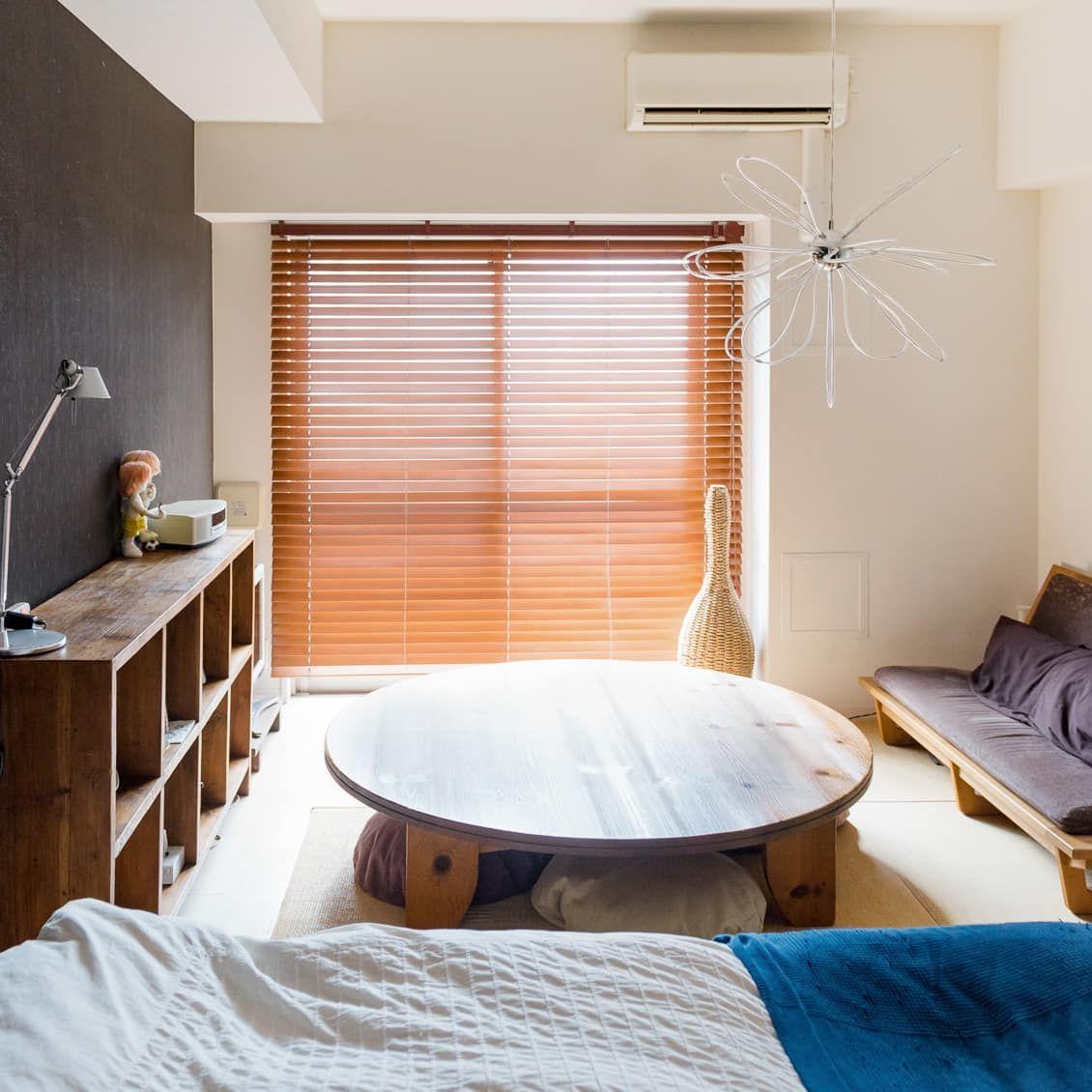 40代で あえて選んだ ワンルーム 夫婦が狭い部屋で快適に暮らすレイアウト インテリア 一人暮らし シンプル 狭い部屋 インテリア 和室 インテリア 一人暮らし