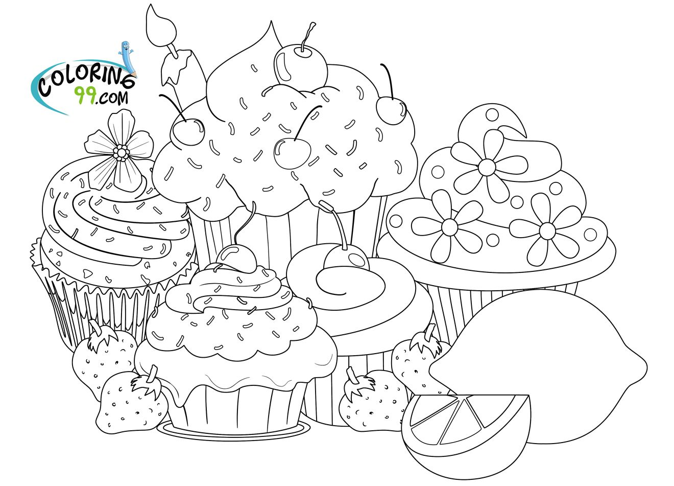 cupcake coloring pages cupcake sweets Pinterest Creative