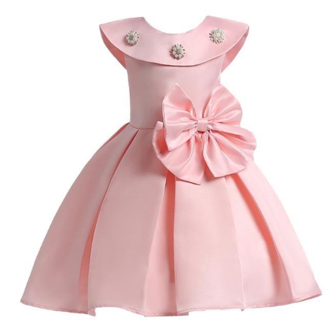 f037191a7 Girls Dress Summer Wedding Dresses Children Bowknot Party Dresses ...