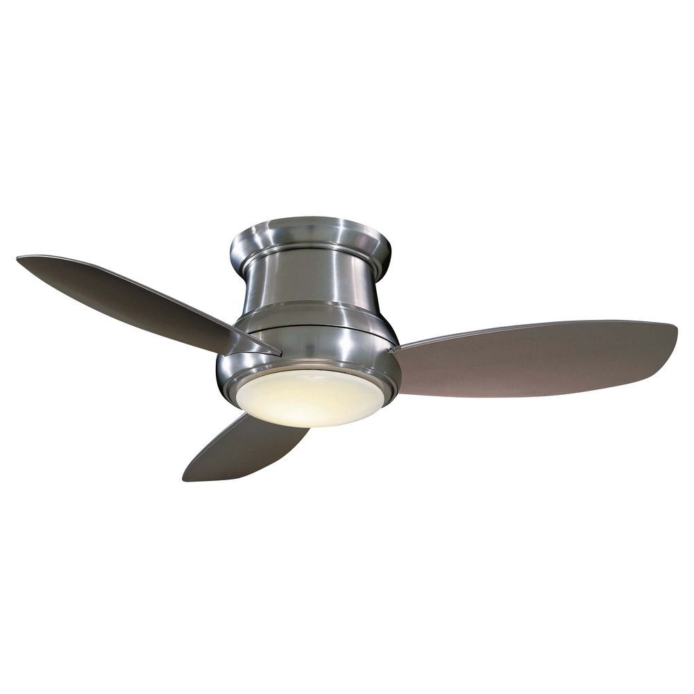 Hugger ceiling fan with light and remote control
