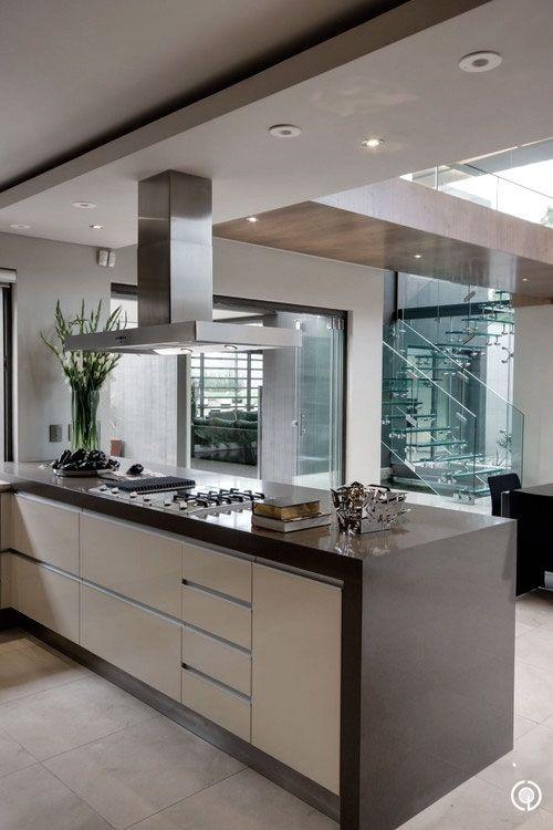 Interesting galley style kitchen On my wish list