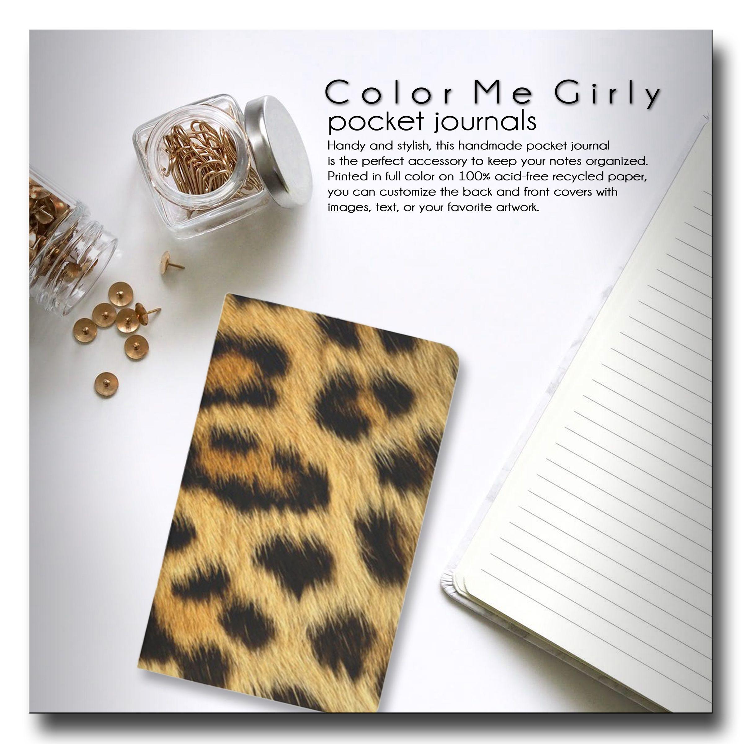 Leopard Print Journal   Leopard, Leopard Print, Leopard Spots, Animal Print,  Pocket