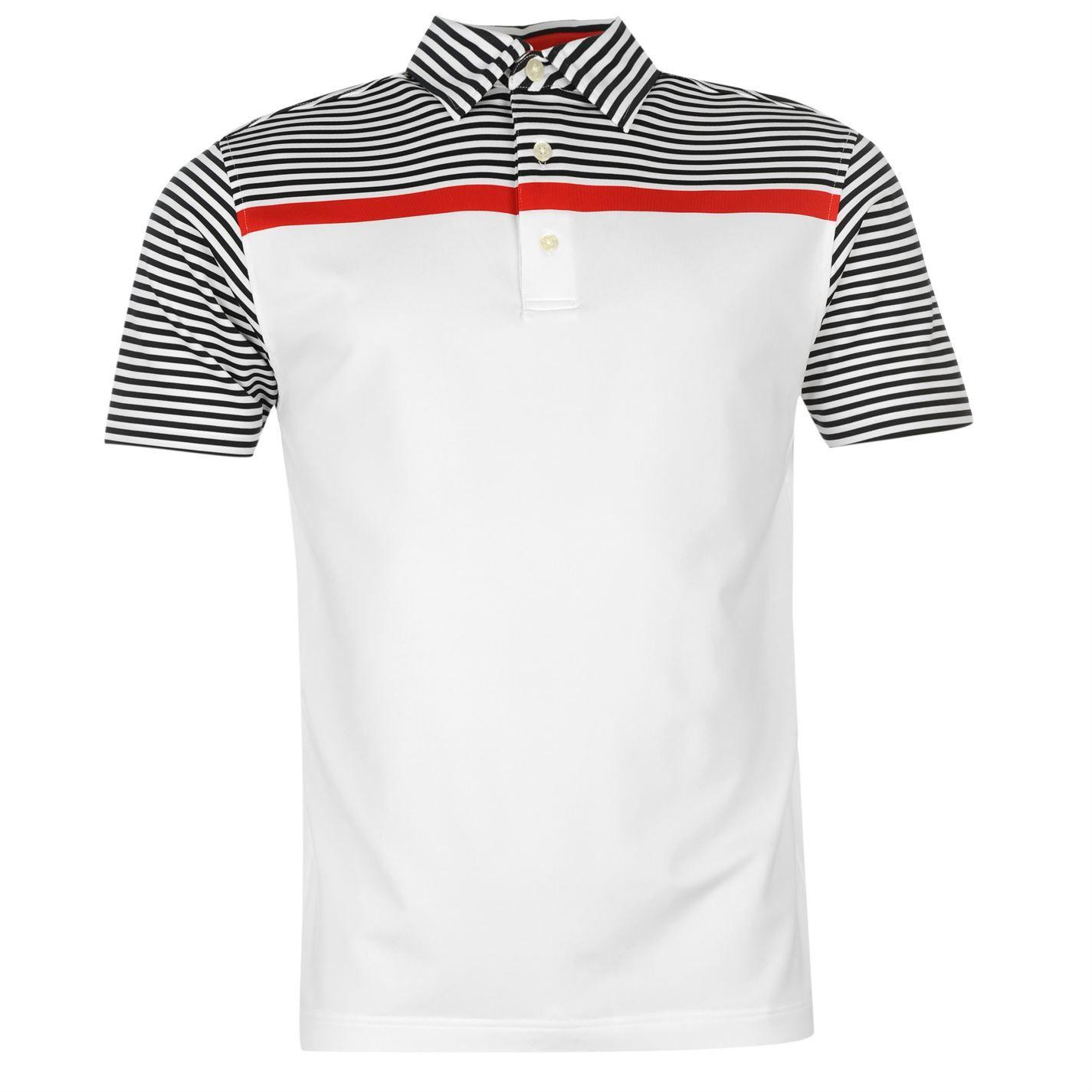 Footjoy | Footjoy Engineered Stripe Polo Shirt Mens | Mens Golf Polos