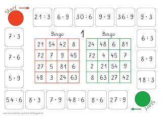 Bingo (multiplizieren und dividieren) | Matematyka | Pinterest ...