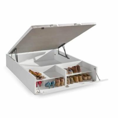 Sommier Coffre en bois Shoesen 160x200 Blanc Storage beds - comment calculer le dpe d une maison
