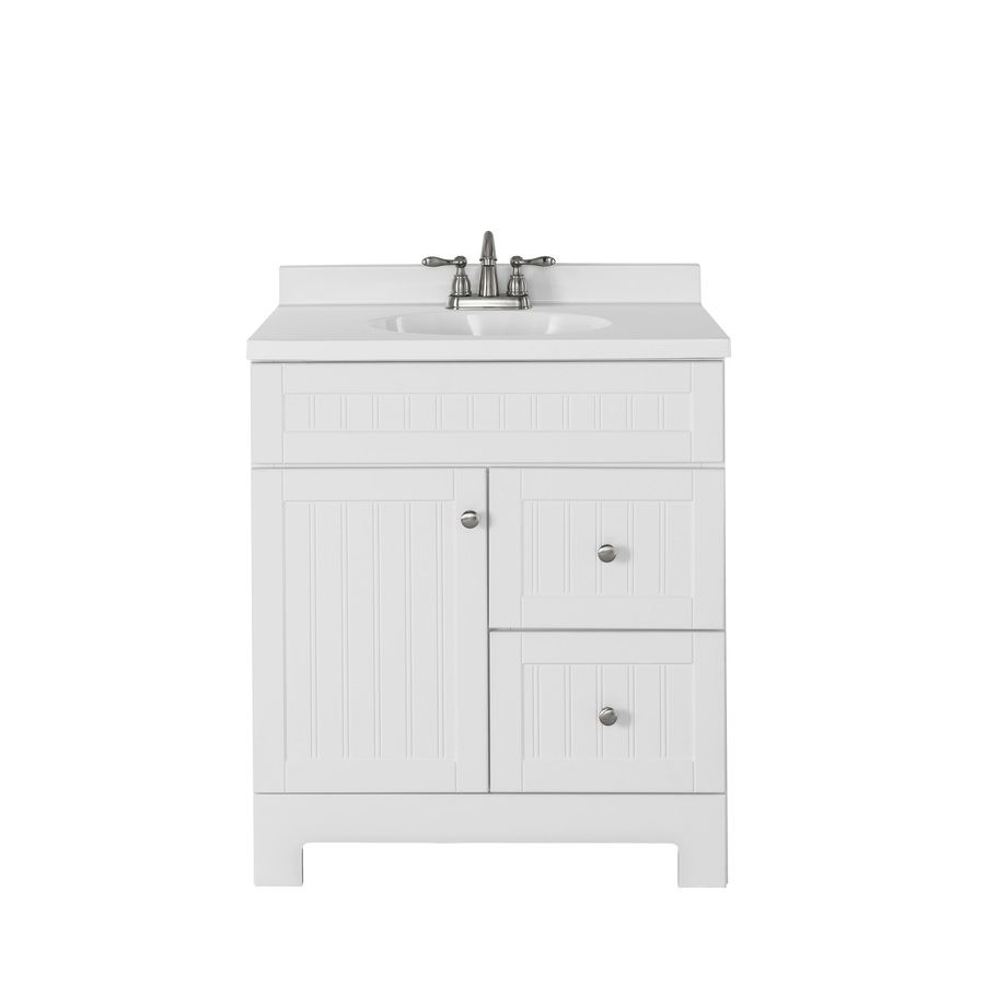 Swell Shop Style Selections Ellenbee White Integral Single Sink Download Free Architecture Designs Scobabritishbridgeorg