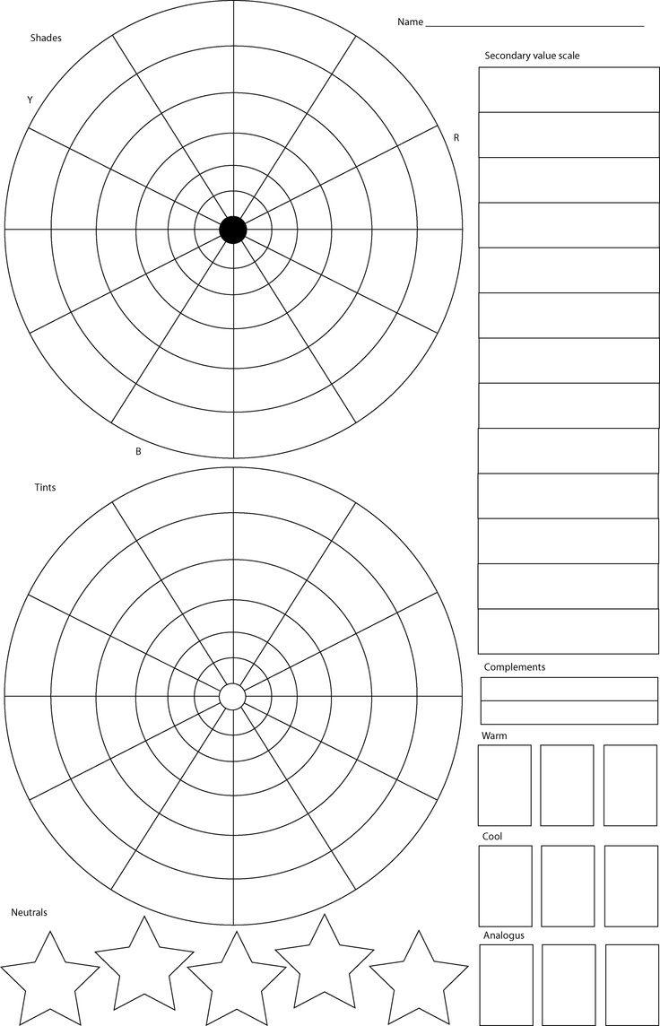 Detailed Color Wheel Teaching Art Art Worksheets Homeschool Art [ 1144 x 736 Pixel ]