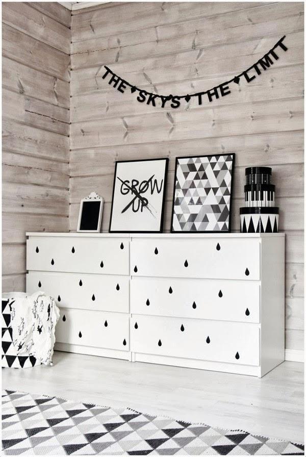 Nuevo aire a la cómoda Malm de Ikea   Estilo Escandinavo