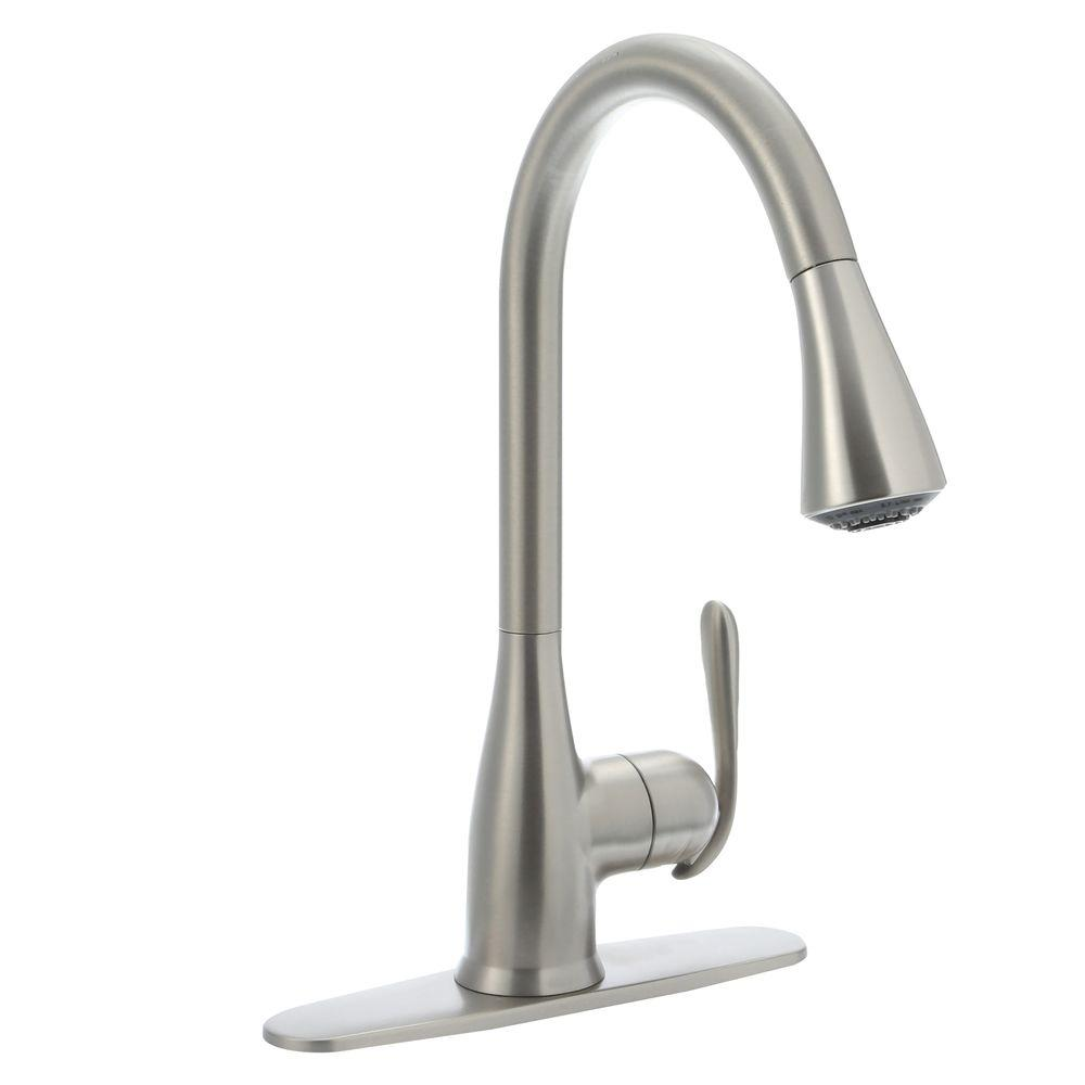 Moen Haysfield Single Handle Pull Down Sprayer Kitchen Faucet With