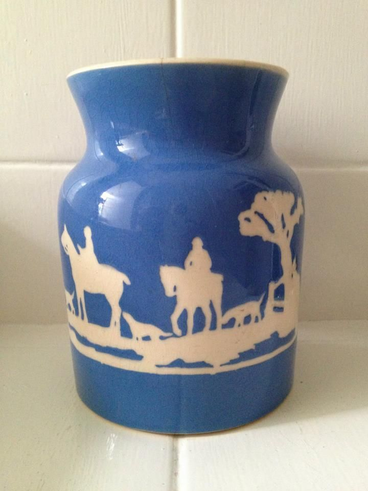 Tally Ho! Very Rare Lidded Kitchen Container Dated 1928 In