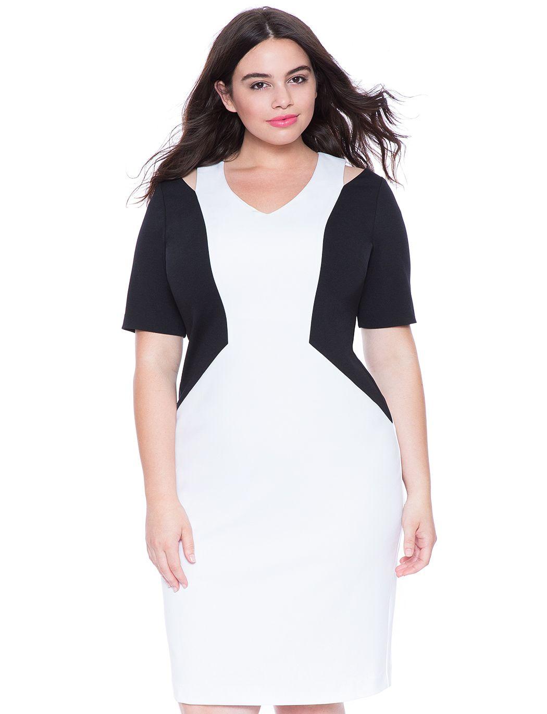 Cutout Colorblock Dress Womens Plus Size Dresses Eloquii