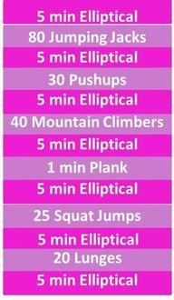 40 minute ellipticalcircuit workout  elliptical workout