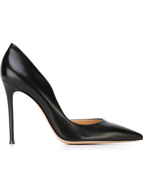 Gianvito Rossi clear strap pointed pumps - Black farfetch Pelle