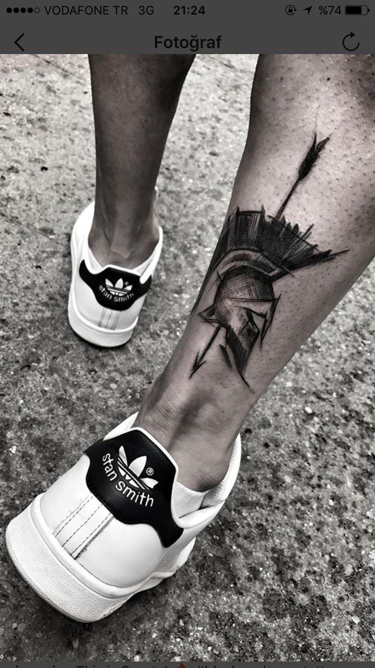 Spartano Tatuar Tatuajes Geométricos Hombre Tatuajes Pierna