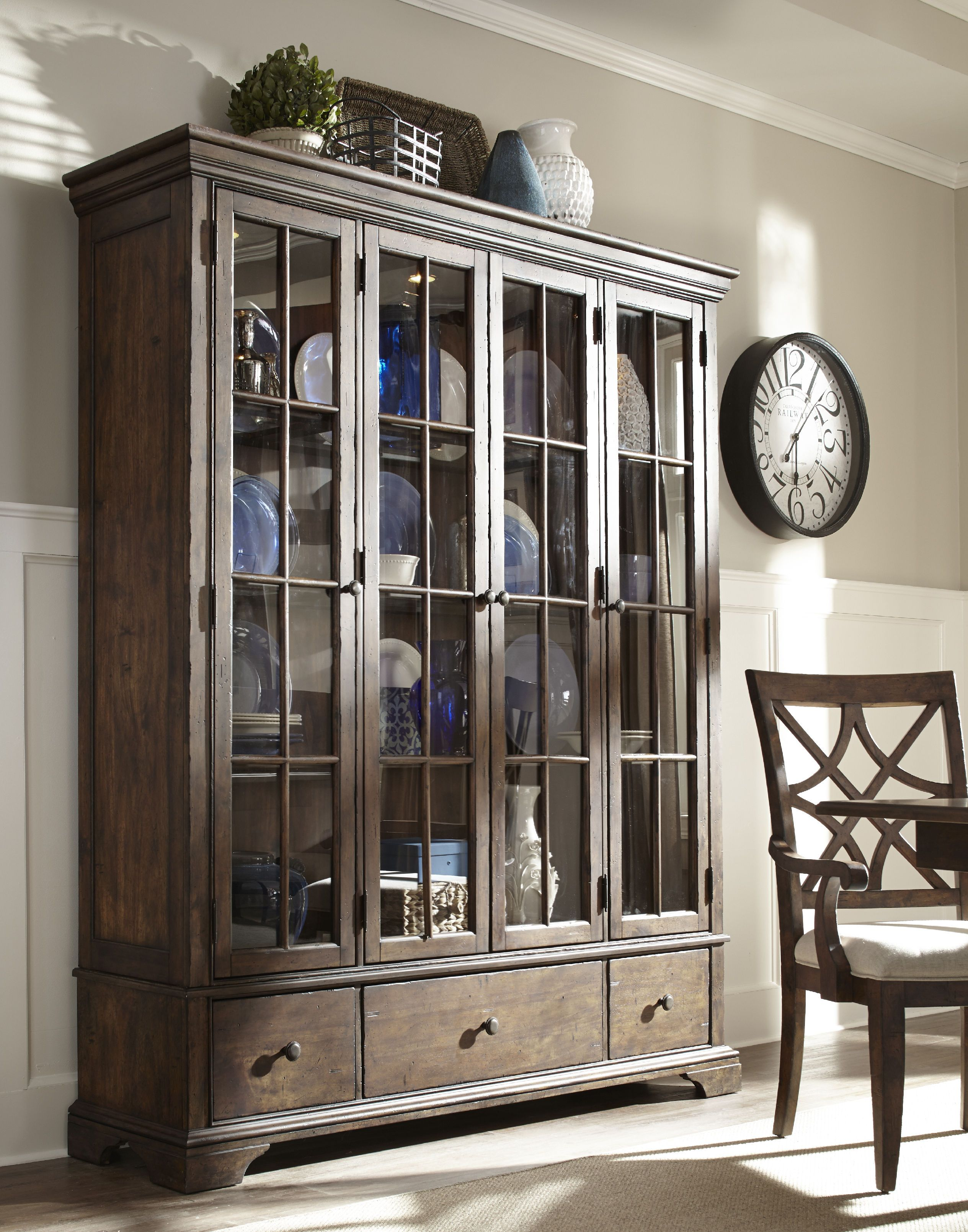 dining room curio cabinets | Trisha Yearwood Dining Room Monticello Dining Room Curio ...