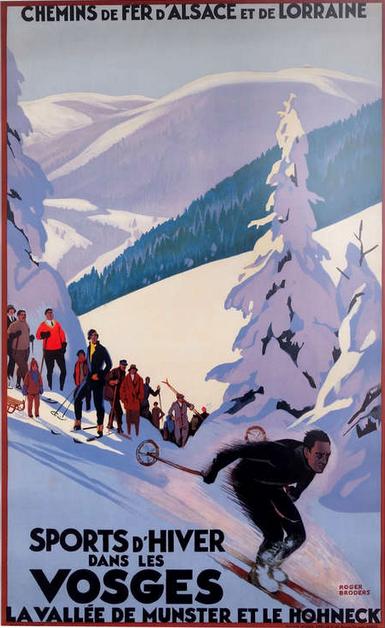 By Roger Broders (1883-1953), Sports d'hiver dans les Voges, France.