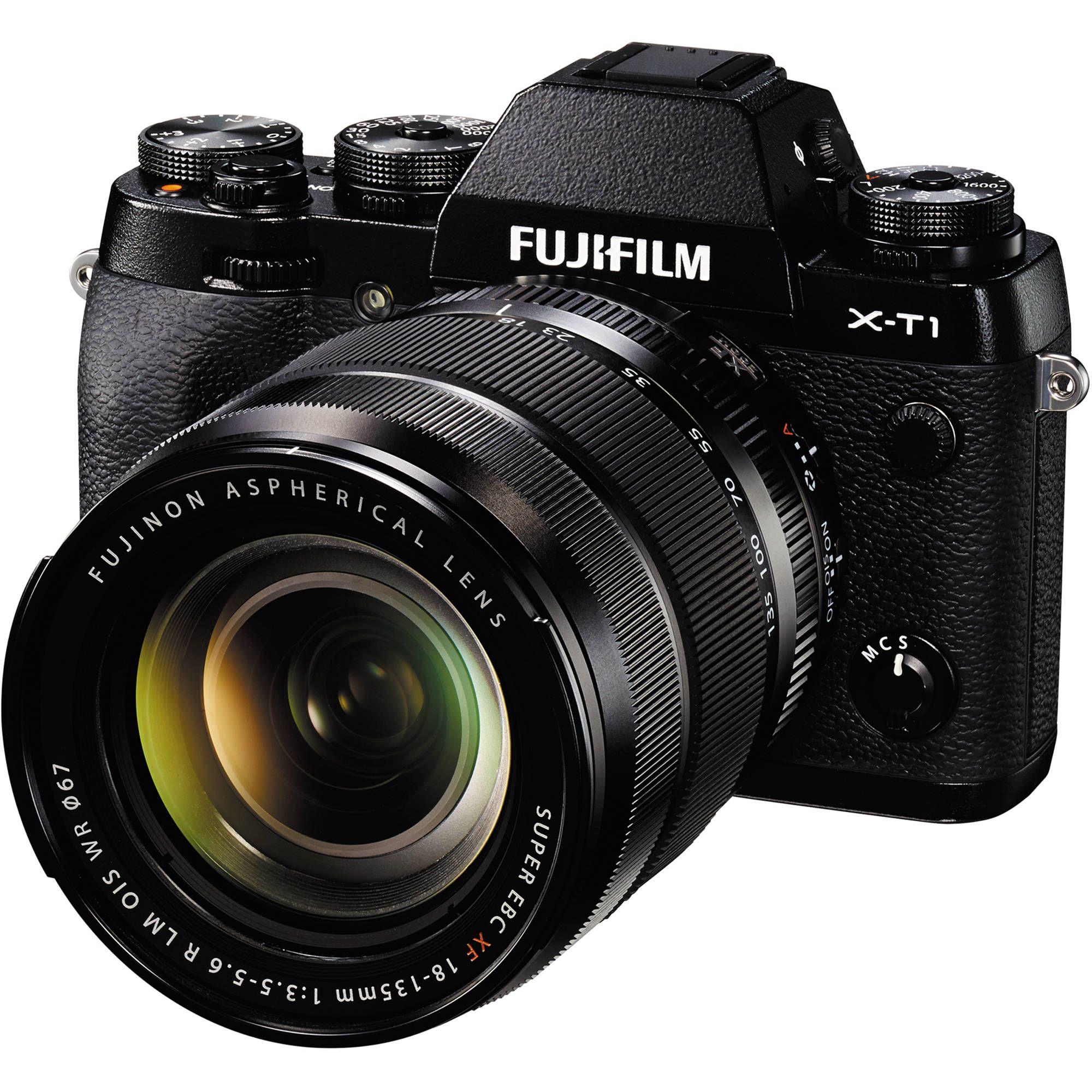 Fujifilm X T1 Mirrorless Digital Camera With 18 135mm Lens Black Best Digital Camera Fujifilm Camera Digital Camera