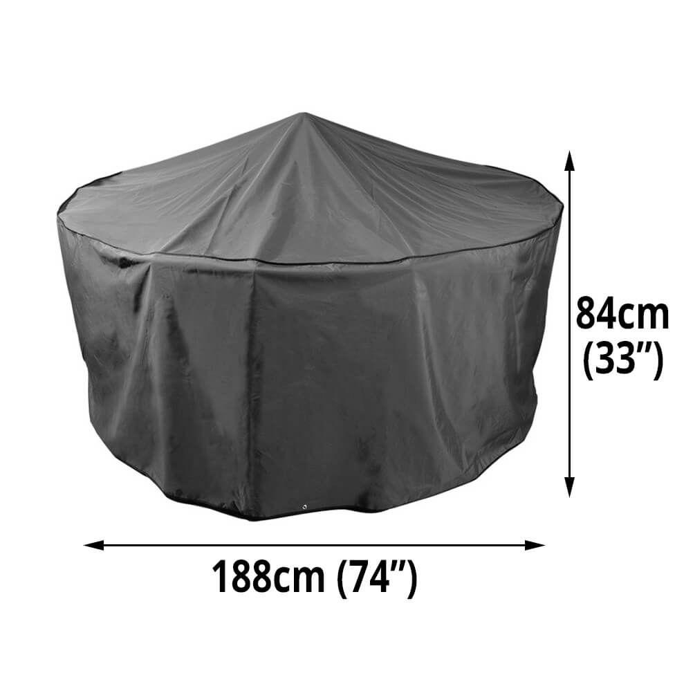 Bosmere Protector 7000 Premier Circular Patio Set Cover 6 Seat Set Cover Circular Patio Patio Set