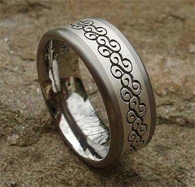 Bespoke Titanium Wedding Ring in 2020 Titanium wedding