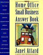 The Home Office and Small Business Answer Book Solutions to the Most Frequently Asked Questions About Starting and Running Home Offices and Small B Henry Holt Reference Book ** Click image for more details. (Amazon affiliate link)