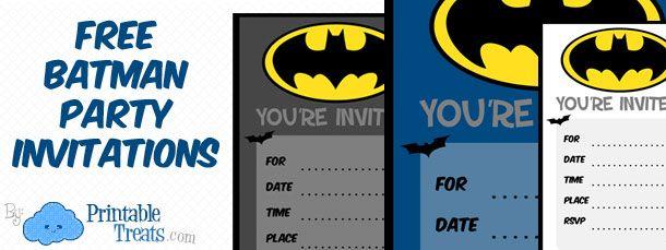 Batman Birthday Invitations To Print Party Decor Pinterest
