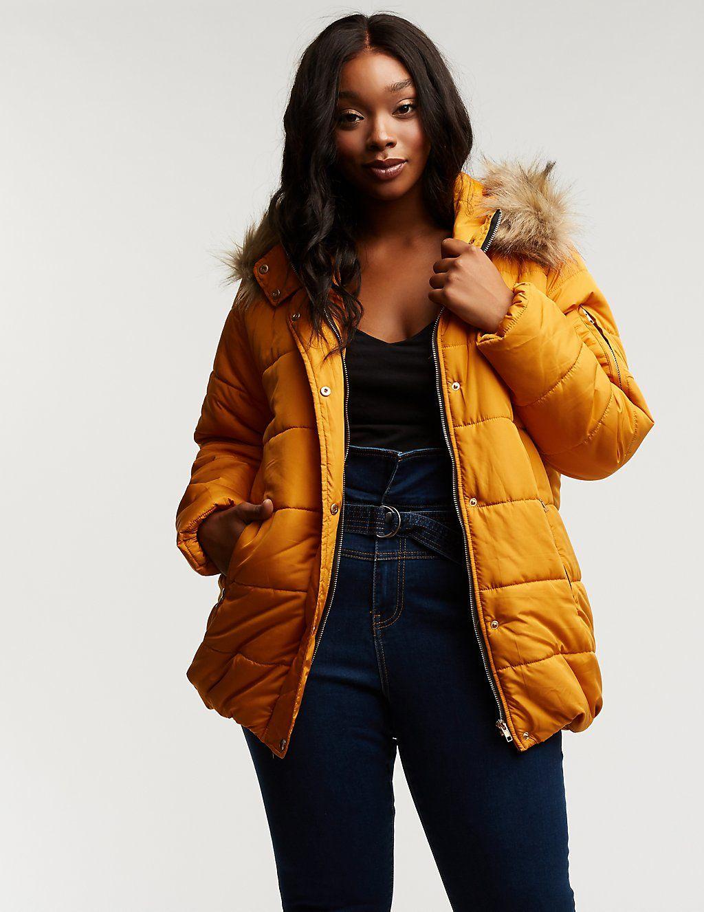 Plus Size Longline Hooded Puffer Jacket Charlotte Russe Puffer Jackets Jackets Plus Size [ 1326 x 1024 Pixel ]