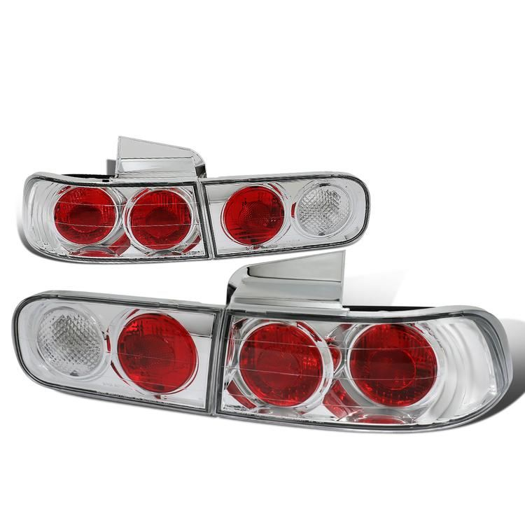 D Motoring 94 01 Acura Integra Tail Lights Black Housing Red Clear Lens Plug N Play Pair Tail Light Acura Integra Lights