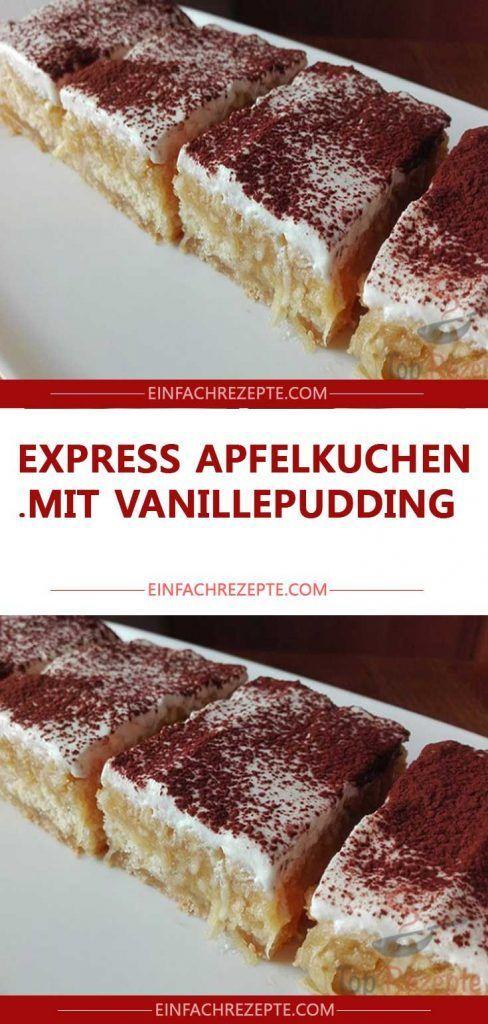 Photo of Express apple pie with custard 😍 😍 😍