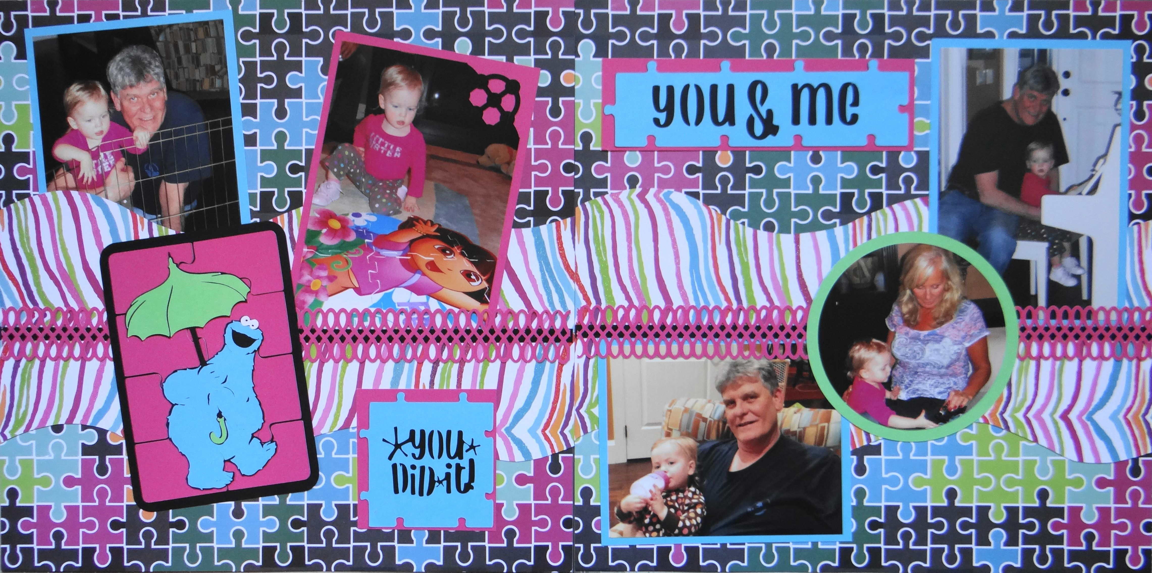 Family scrapbook ideas on pinterest - Scrapbook Page You Did It Children S 2 Page Kiwi Lane Layout With Cookie Monster