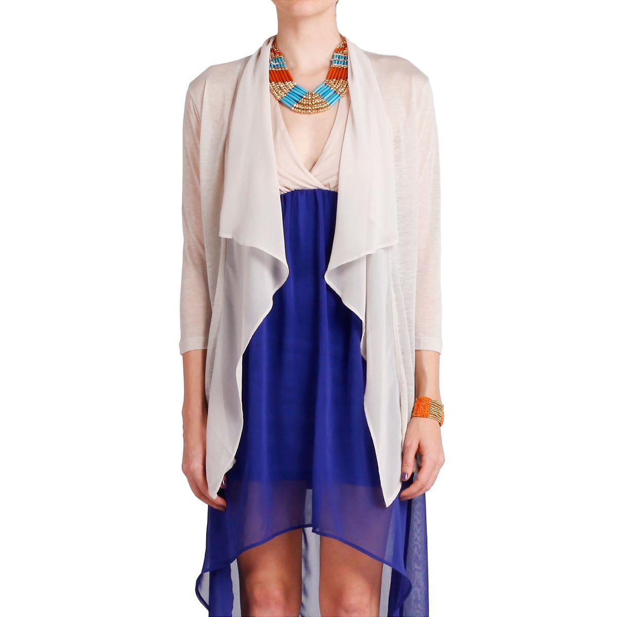 Sheer Drape Cardigan & sheer bottom dress | Stylemania | Pinterest ...