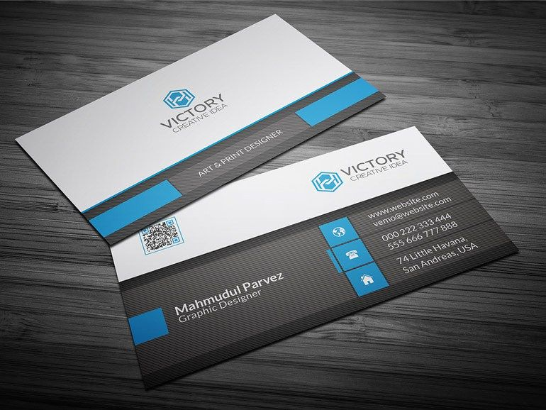 Victory Free Corporate Business Card Template Http - Editable business card templates free