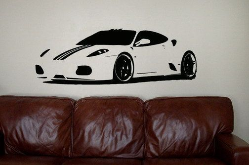 Large Vinyl Wall Art Decal Sticker Exotic Car Ferrari f430 | Sons ...