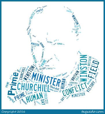 My picture of Churchill from tagxedo.com (idea taken from BVG Spanish board)