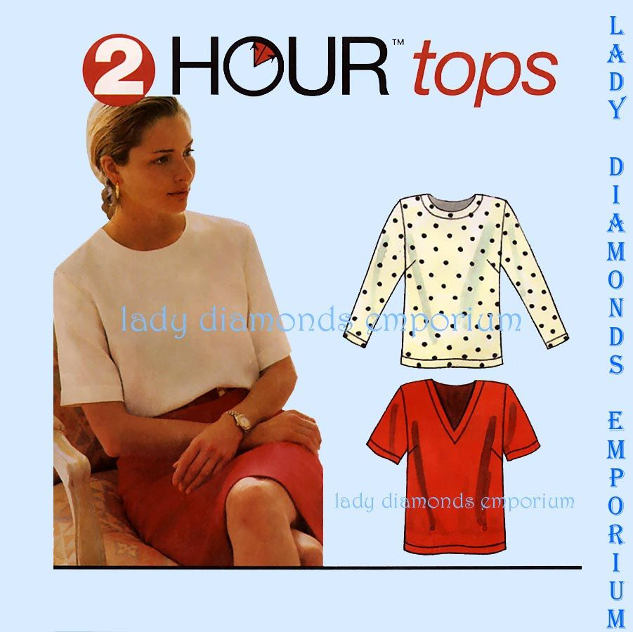 Simplicity 9086 Womens 2 Hour Tops Shirt Blouse size 16 18 20 22 ...