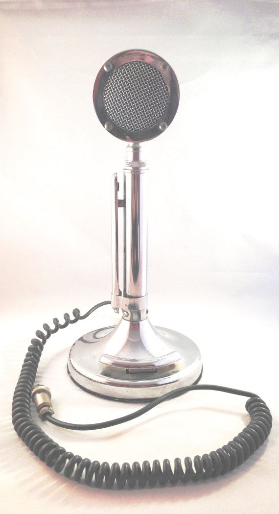 Astatic Silver Eagle Microphone, Ham CB Radio Vintage Mic Chrome, Made in the USA #collectible #