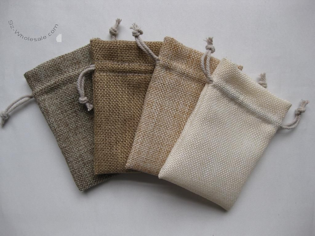 colour natural 2 sizes. Cotton Drawstring Stuff Bags Gifts Parties Jewellery