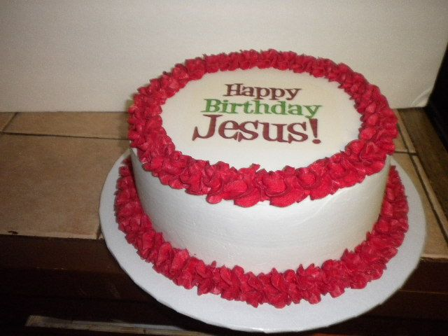 Happy Birthday Jesus Cake Cakes Pinterest Happy Birthday Jesus
