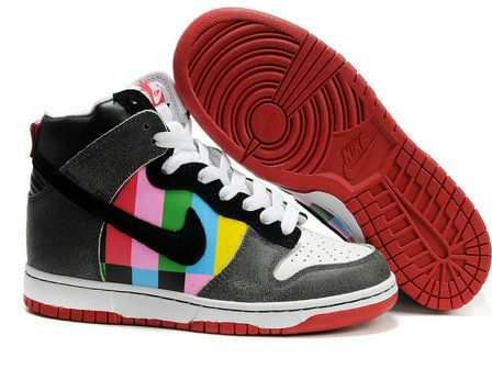 brand new efb64 1ac85 Channel Zero Nike Dunks High SB Revive Customs Womens