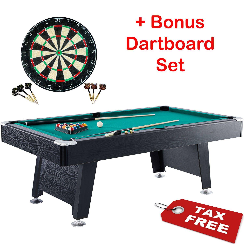Billiard Pool Table Arcade Game Room Set Board Indoor Balls Cues