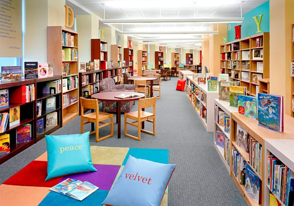 LIbrary design, Children\'s Library Decorating Ideas With Colorful ...