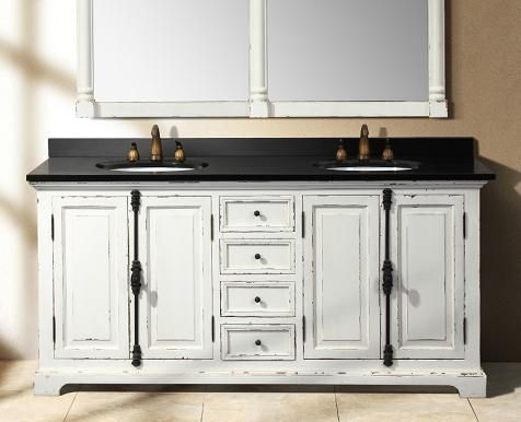 Delicieux Weathered Bathroom Vanities For A Shabby Chic Bathroom Decor