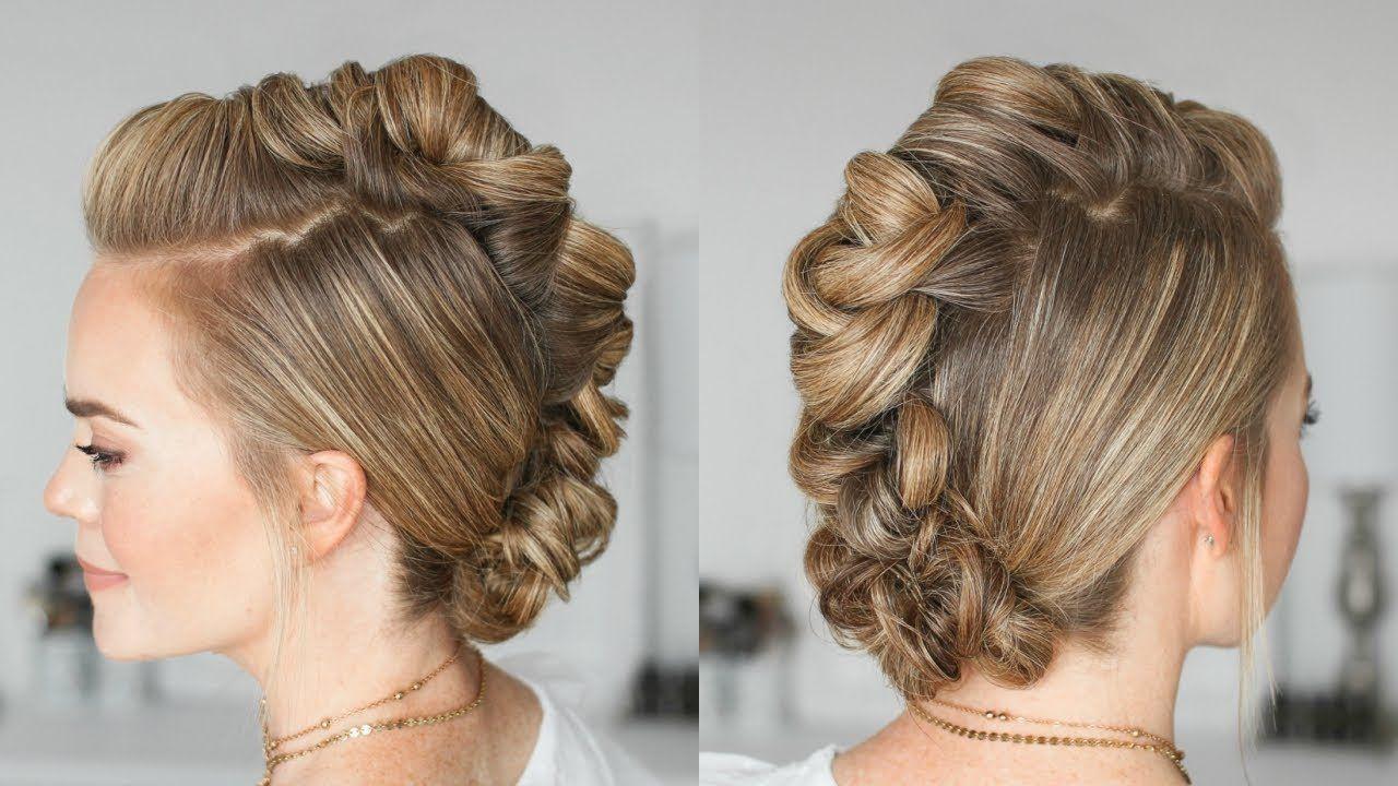Wrapped mohawk updo missy sue youtube fashion gal hair