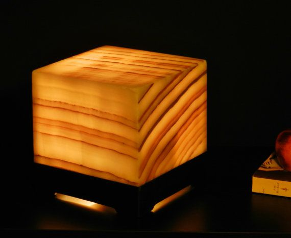 Natural Stone Table Lamp Onyx/alabaster By INSPIREDSTONEWORK