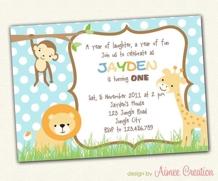 e52c085f49e22e43b1220aef54dc95ff birthday invitation printable diy jungle animals for boys children,Invitation Birthday Card For Kids