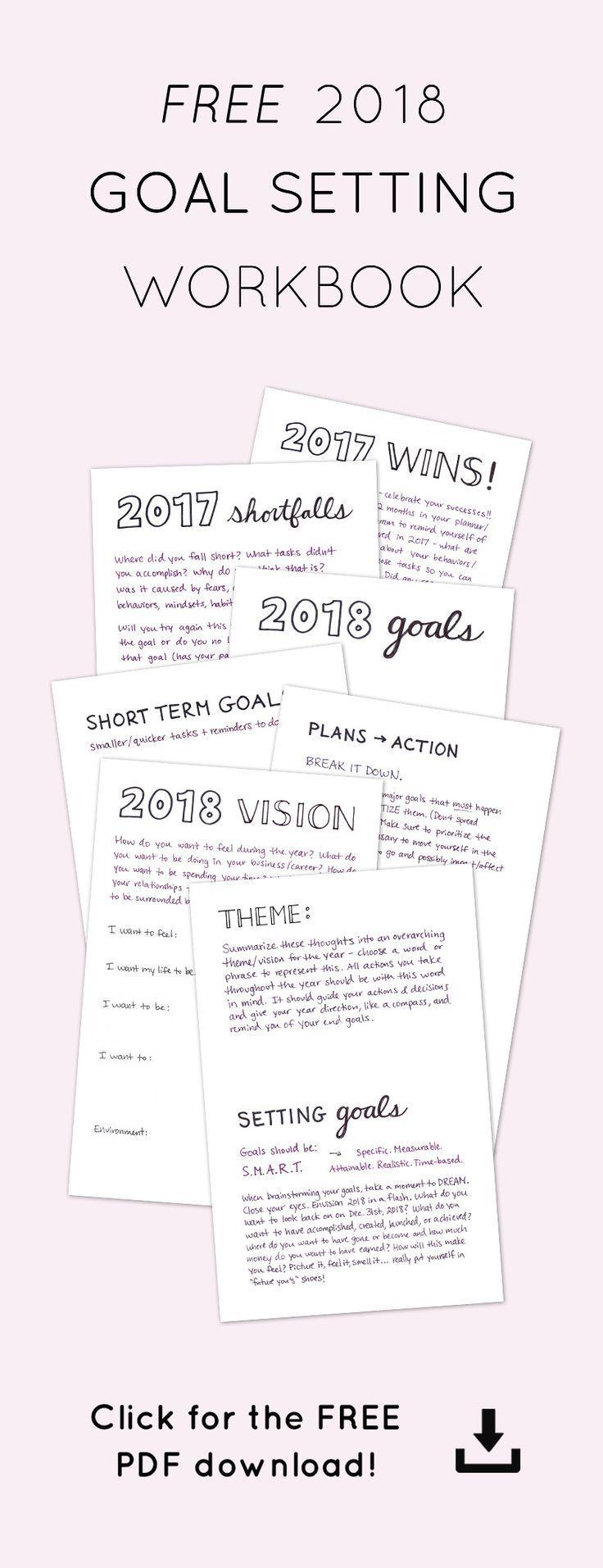 2019 Goal Setting Workbook Lin Pernille Photography Goals Worksheet Smart Goals Worksheet Workbook