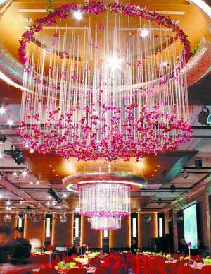 Wedding flower chandelier floral chandeliers flower chandeliers wedding flower chandelier aloadofball Image collections