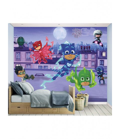 Walltastic Pj Masks Wall Mural 2 44m X 3 05m Boys Room Mural Toddler Boys Room Kids Bedroom